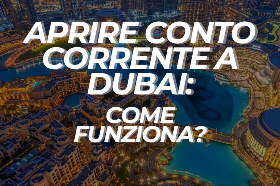 Come aprire conto corrente Dubai